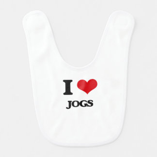 I Love Jogs Baby Bib