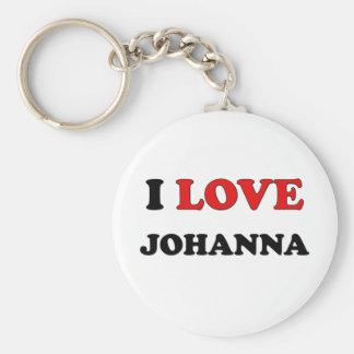I Love Johanna Basic Round Button Keychain