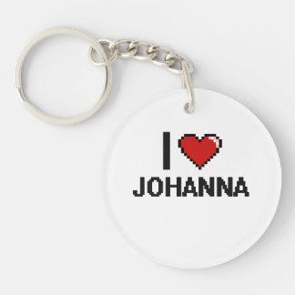 I Love Johanna Digital Retro Design Single-Sided Round Acrylic Keychain