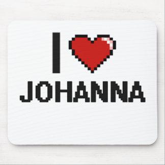I Love Johanna Digital Retro Design Mouse Pad