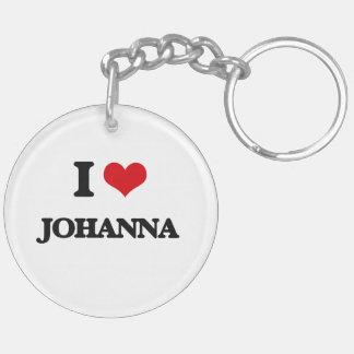 I Love Johanna Double-Sided Round Acrylic Keychain
