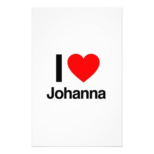i love johanna stationery