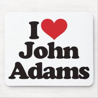 I Love John Adams Mouse Pad