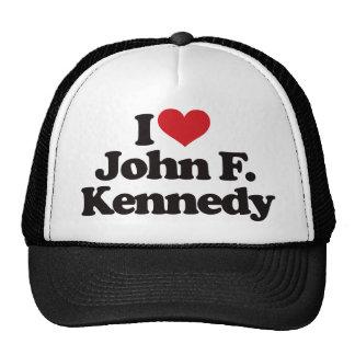 I Love John F Kennedy Trucker Hat
