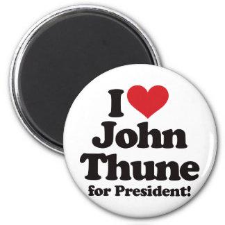 I Love John Thune for President 2 Inch Round Magnet
