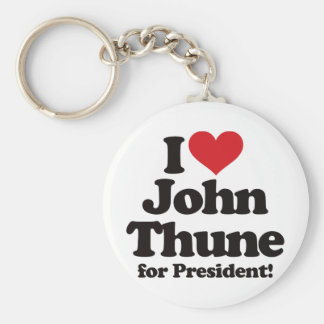 I Love John Thune for President Basic Round Button Keychain