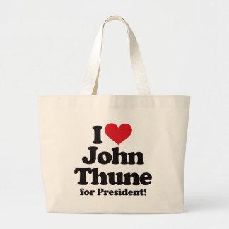 I Love John Thune for President Large Tote Bag