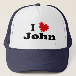 I Love John Trucker Hat