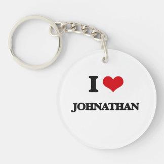 I Love Johnathan Single-Sided Round Acrylic Keychain