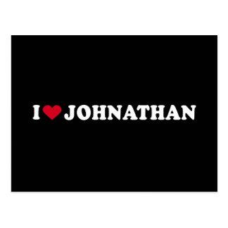 I LOVE JOHNATHAN POSTCARD