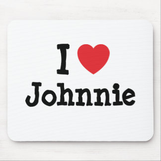 I love Johnnie heart custom personalized Mouse Pad