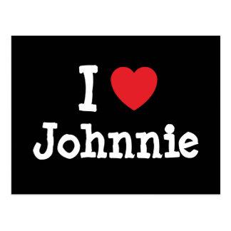 I love Johnnie heart T-Shirt Postcard