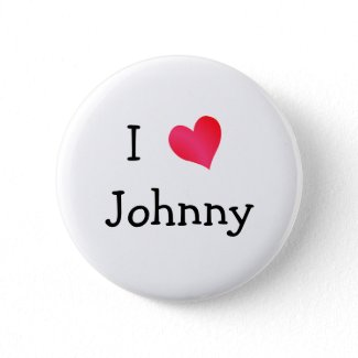I Love Johnny button