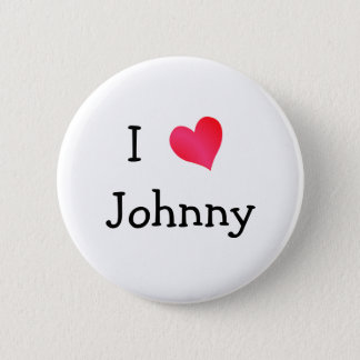 I Love Johnny Button