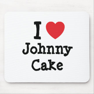 I love Johnny Cake heart T-Shirt Mouse Mats