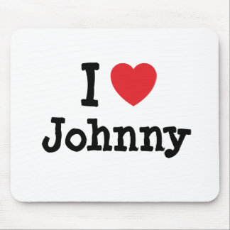 I love Johnny heart custom personalized Mouse Pad