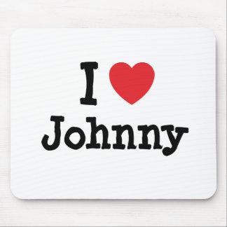 I love Johnny heart T-Shirt Mouse Pad