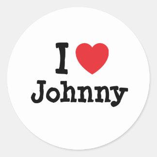 I love Johnny heart T-Shirt Classic Round Sticker