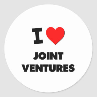 I Love Joint Ventures Stickers