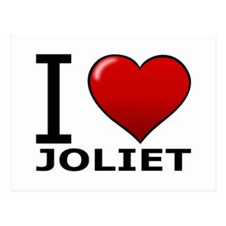 I LOVE JOLIET,IL - ILLINOIS POSTCARD