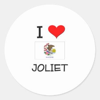 I Love JOLIET Illinois Round Sticker