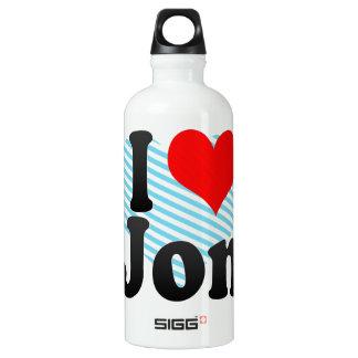 I love Jon Aluminum Water Bottle