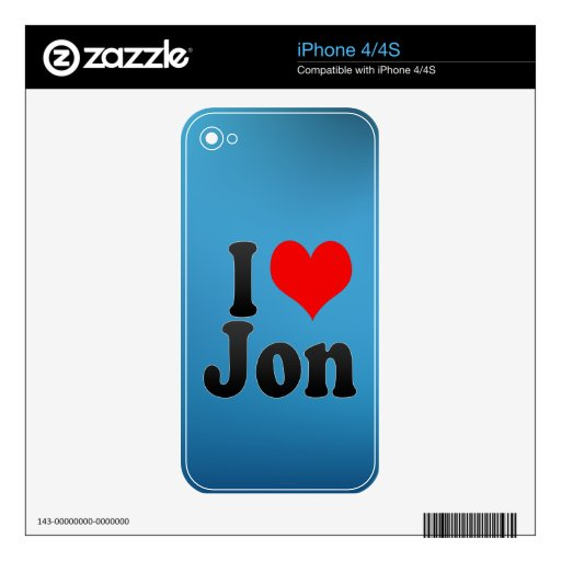 I love Jon Decals For iPhone 4