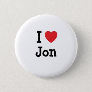 I love Jon heart custom personalized Button