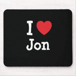 I love Jon heart custom personalized Mouse Mat