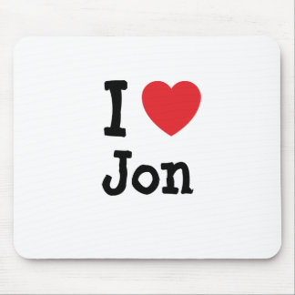 I love Jon heart custom personalized Mouse Pad