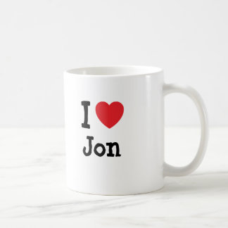 I love Jon heart T-Shirt Mug