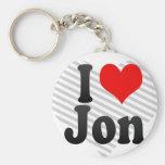 I love Jon Key Chain