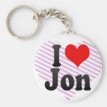 I love Jon Key Chains