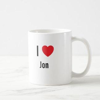 I love Jon Coffee Mugs