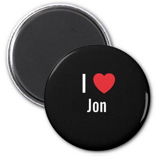 I love Jon Refrigerator Magnet