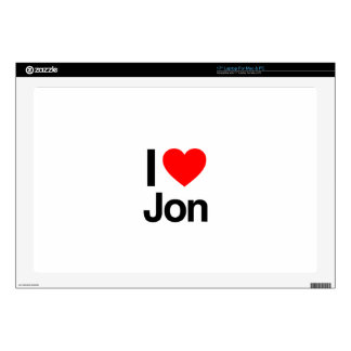 "i love jon decal for 17"" laptop"