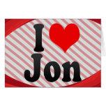 I love Jon Stationery Note Card