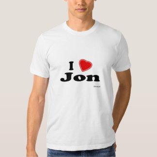 I Love Jon Tee Shirts