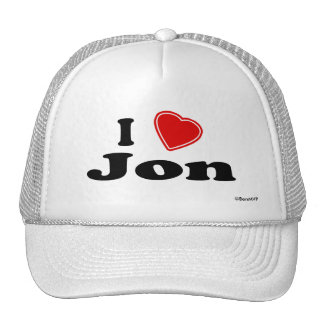 I Love Jon Trucker Hat