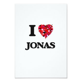 I Love Jonas 3.5x5 Paper Invitation Card