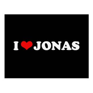 I LOVE JONAS POSTCARD