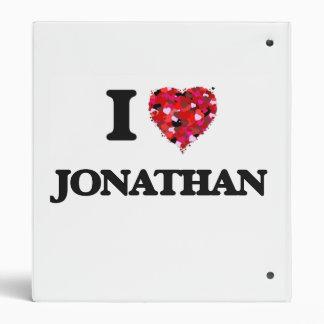I Love Jonathan 3 Ring Binder