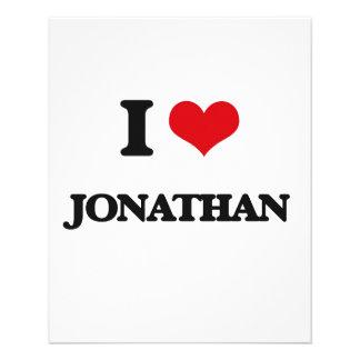 "I Love Jonathan 4.5"" X 5.6"" Flyer"
