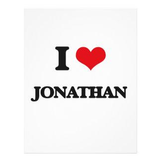 "I Love Jonathan 8.5"" X 11"" Flyer"