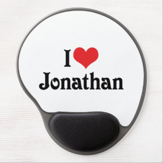 I Love Jonathan Gel Mouse Mats