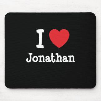 I love Jonathan heart custom personalized Mouse Mats