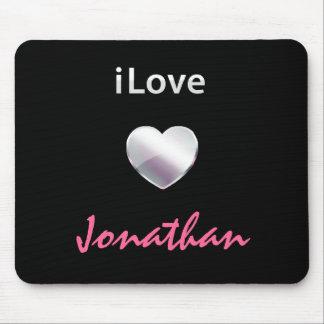 I Love Jonathan Mouse Pads