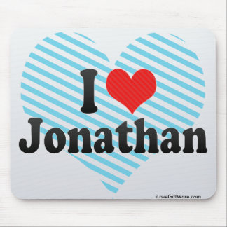 I Love Jonathan Mouse Pad