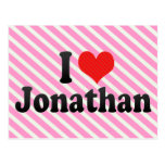 I Love Jonathan Postcard