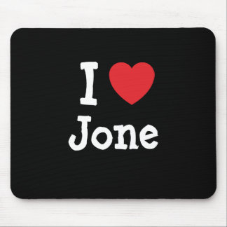 I love Jone heart T-Shirt Mouse Mats